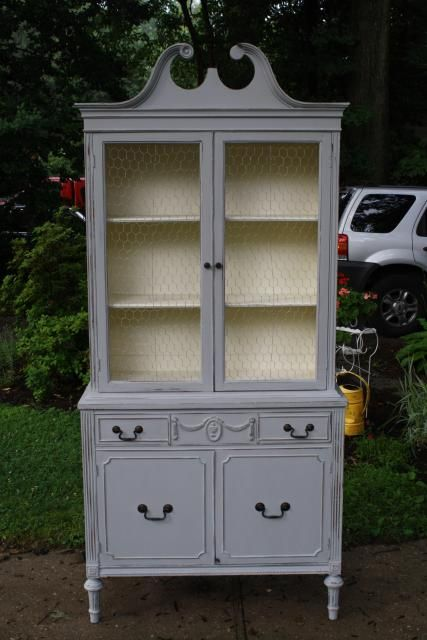 1000 images about Chalk Paint China Cabinets on Pinterest  China cabinet painted Paris grey