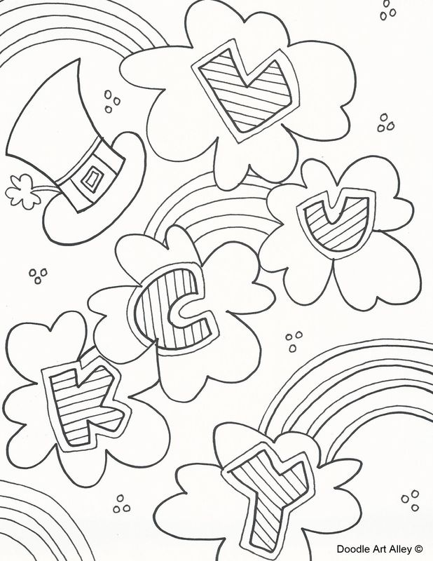 117 best images about Coloring: St.Patrick's Day on