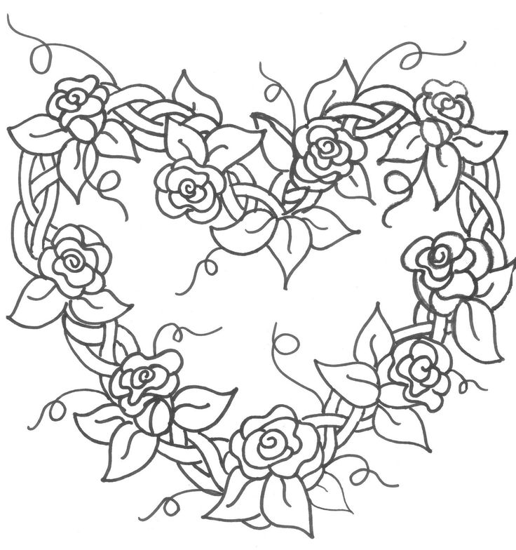 Grapevine Wreath with Flowers Embroidery Pattern