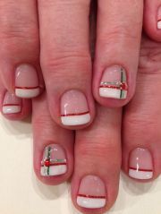 french manicures red green