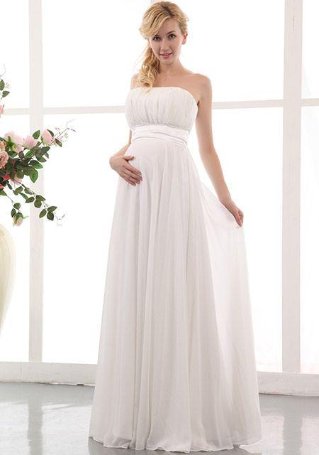 Die Besten 25 Hochzeitskleider Für Schwangere Ideen Auf Pinterest