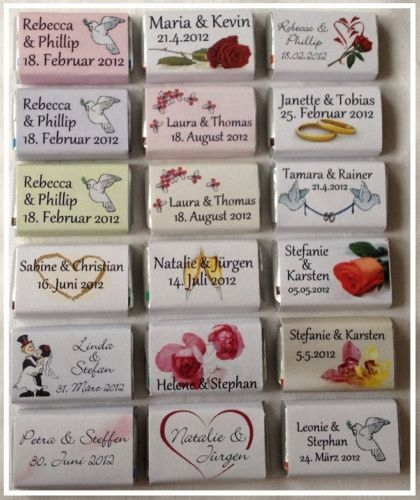 30 Gastgeschenke Schokolade personalisiert Hochzeit dn