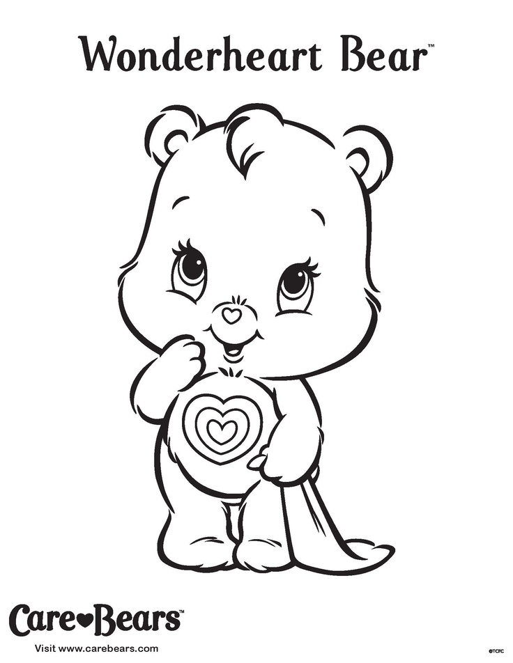 Wonderheart Bear coloring sheet from AGKidZone.com