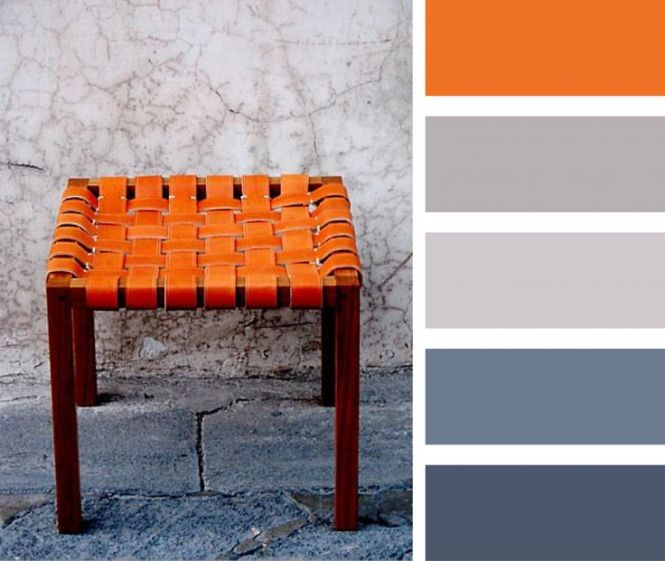 Burnt Orange Gray And Blue Palette Casamidy