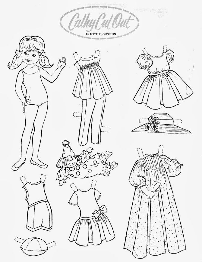 1063 best images about Paper Doll: Black and White on