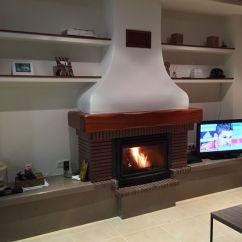 Corner Tv Living Room Ideas Small Designs Pictures Chimenea De Ladrillo Caravista Y Marmol, Caset/insert ...