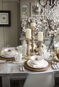 1000+ ideas about Dining Table Decorations on Pinterest