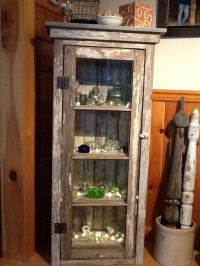 Vintage old barn window and boards made into a cabinet for ...
