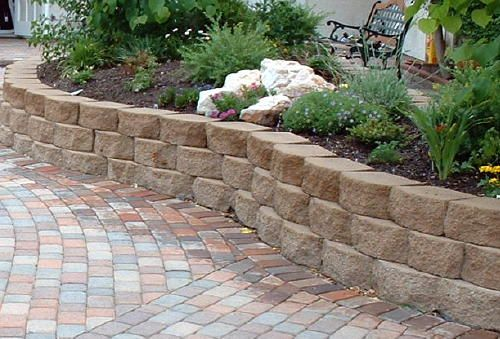 Raised Stone Shrub Beds For Front Walls How To Build