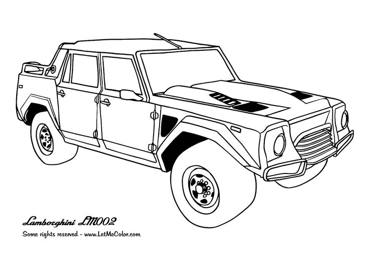 awesome Cars coloring page Lamborghini LM002 Special