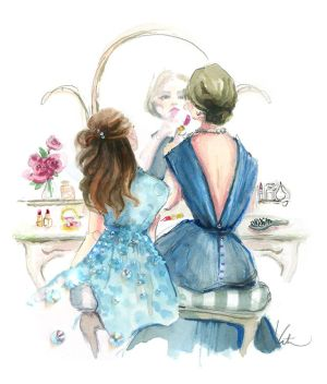 daughter mother illustration illustrations sketches mom paintings drawings mothers clip moda dibujos drawing daughters maravillosos cuadros wonderful mae bond read