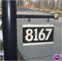 Lamp Post With Address Plaque. House Address Number Sign ...