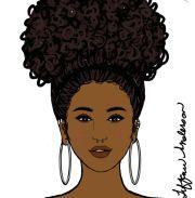 2982 black afro