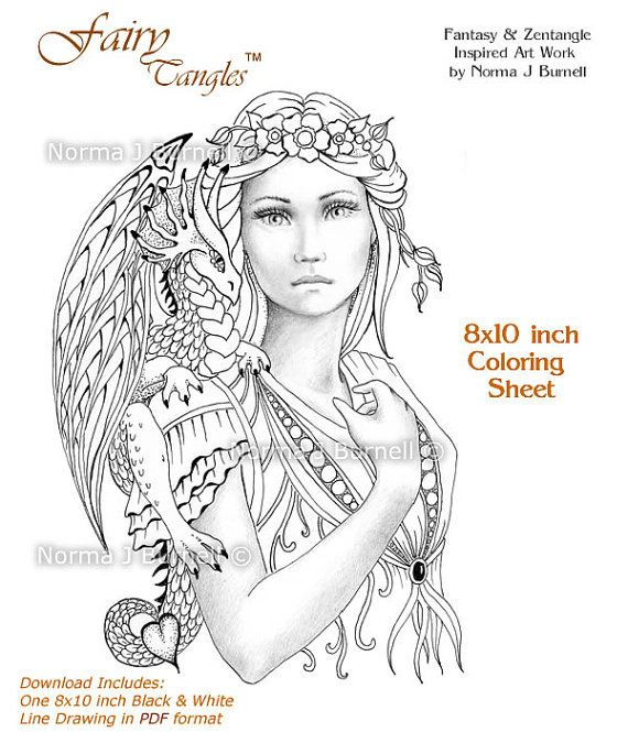 17 Best images about Fairy Tangles™ Coloring For Adults on