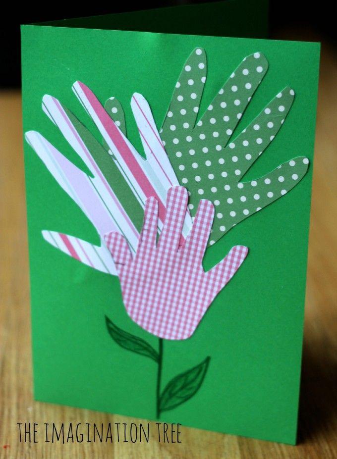 Handprint Flower Card And Framed Art Artworks Card
