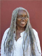 woman with long gray dreadlocks