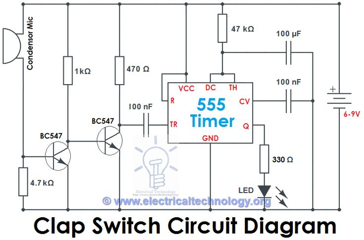 Clap Switch Circuit Diagram Electronic Project