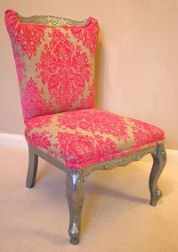 modern pink baroque damask chair | Tickled Pink ...