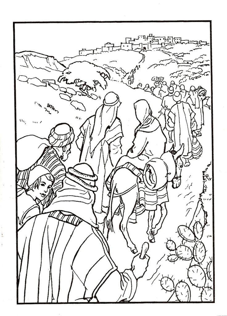 Jozef en Maria op weg naar Bethlehem / skanirovanie
