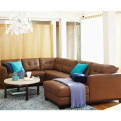 Macys Sectional Sofa Microfiber Affordable Modern Sleeper Martino Leather Living Room Furniture Sets ...