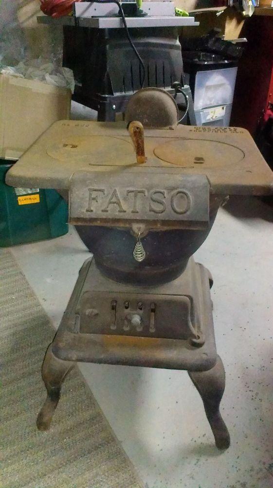 kitchen cook stoves decorative floor mats vintage antique small compact cast iron fatso #200 pot ...