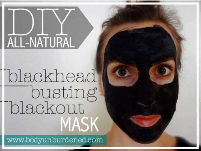 Diy allnatural blackhead busting blackout mask homemade