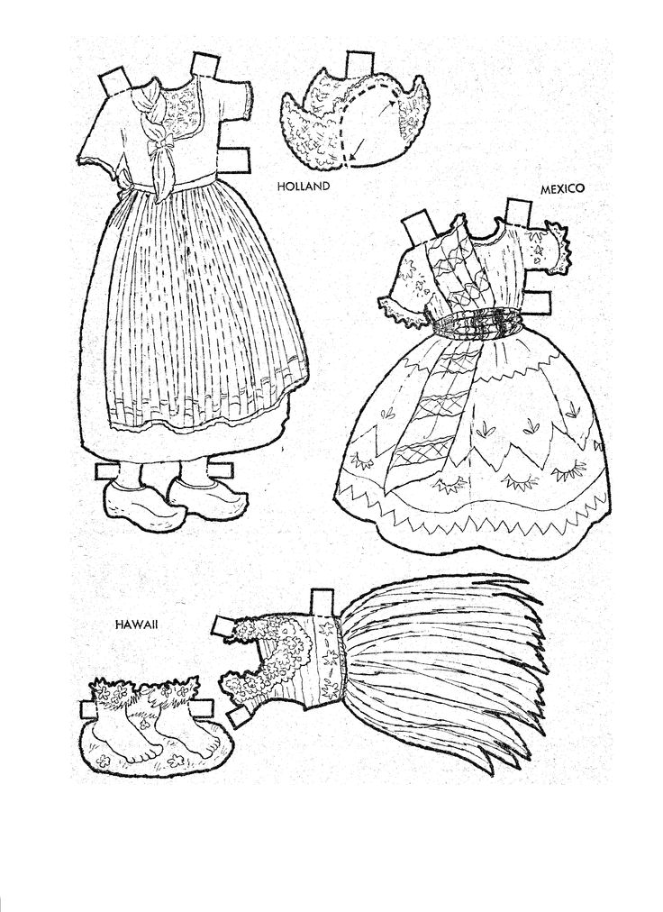 405 best images about Paper Dolls and pictures to Color on