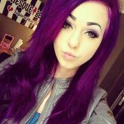bright purple hair scene girls