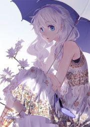 anime art pretty girl. . .long
