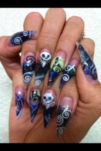 Nightmare before Christmas, Stiletto Nails by Terry ...