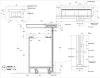 bar counter detail drawing - Google Search | Detale ...