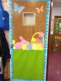 Easter classroom door I created! | Classroom decoration ...