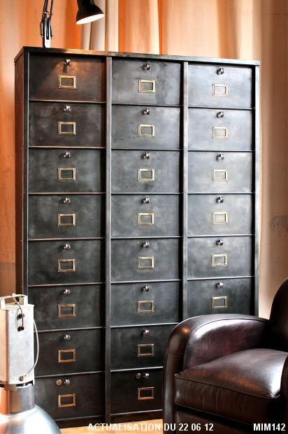 Filing Cabinet STRAFOR Circa 1950 24 Gates Wide