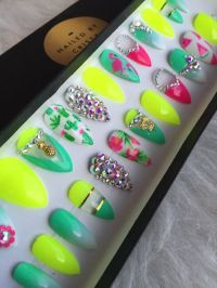 25+ best ideas about Neon nails on Pinterest   Matt nails ...