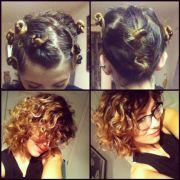 diy natural curls gave straight