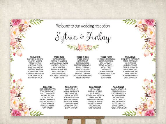 9 Best Images About Seating Plan On Pinterest