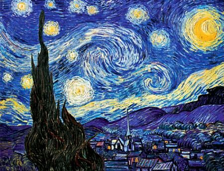 Van Gogh, if you see the real paint