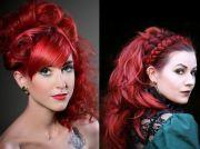 bright red hair dye ideas