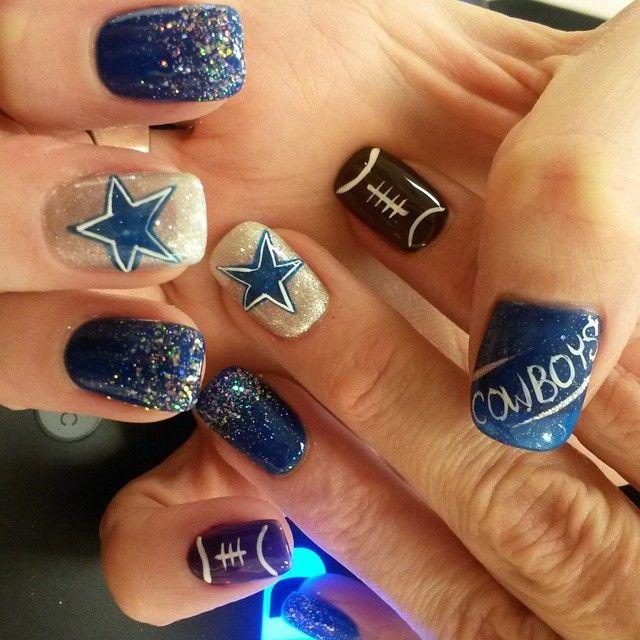 Best 25+ Dallas Cowboys Nails ideas on Pinterest