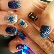 dallas cowboys nails ideas