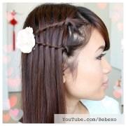 double waterfall twist hair