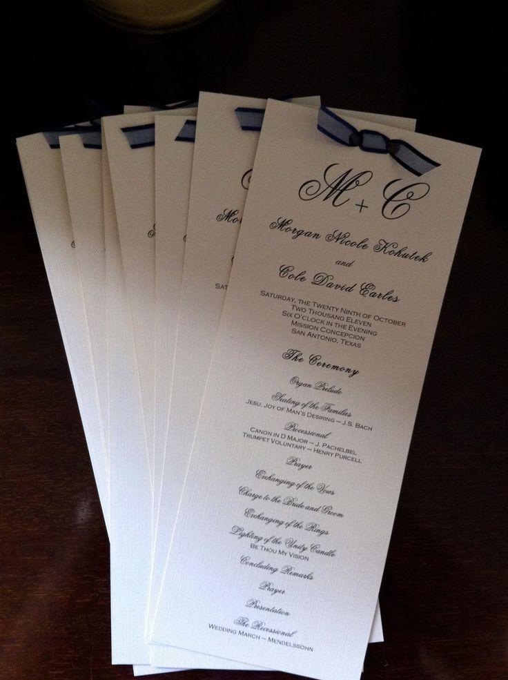 25 best ideas about Diy Wedding Programs on Pinterest