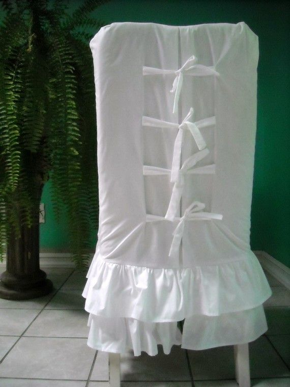 white chair slipcover t cushion covers from dubai ruffled by paulaanderika on etsy, $85.00   for the home pinterest ...
