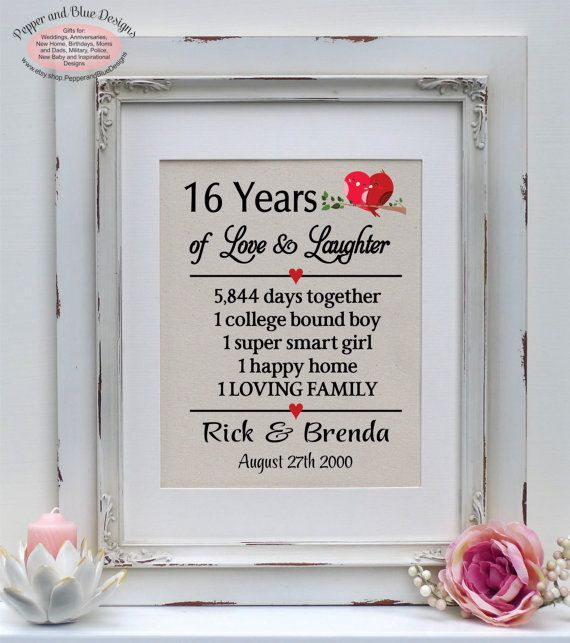 16th Wedding Anniversary Gifts For Her