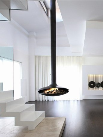 Open Central Hanging Fireplace GYROFOCUS by Focus