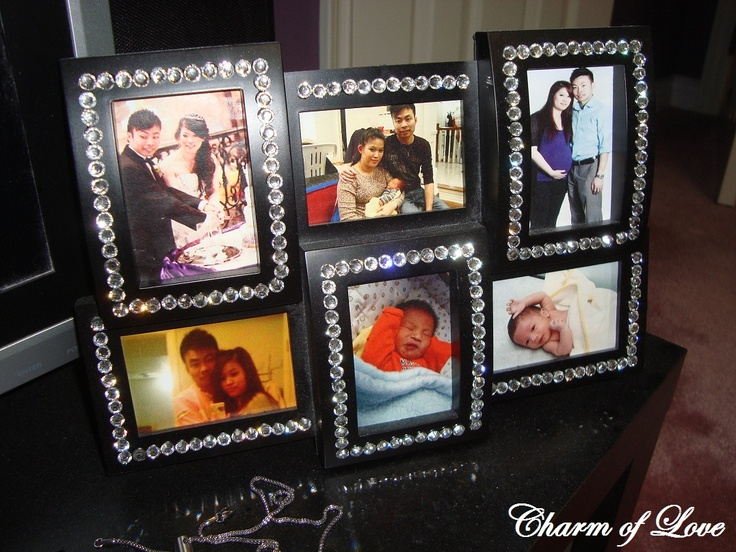 Diy Bling Picture Frame!!! I Have A Collage Like This That