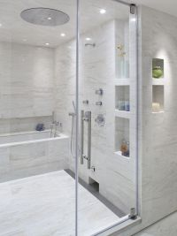 Love the built ins and the tub inside the shower. Plus the ...