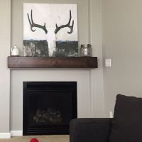 """Fireplace Mantle.48"""" Long x 5.5"""" Tall x 7.5"""" Deep.Floating ..."""