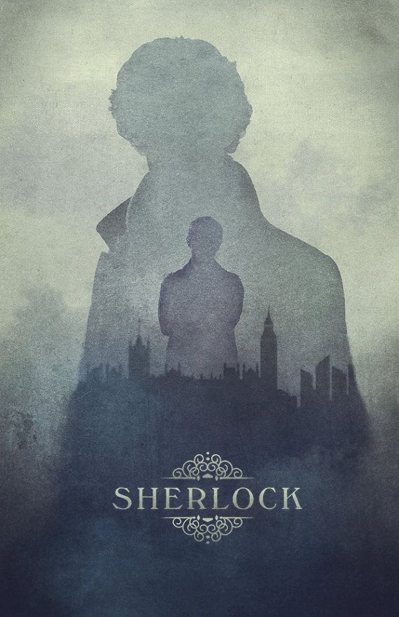 Sherlock poster, London in the Fog- Cumberbatch being mysterious // 11 x 17 Print on Etsy, $20.00