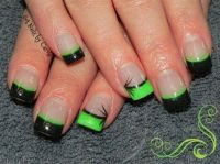 Green and black | Love Nails | Pinterest | French ...